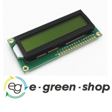DISPLAY LCD 1602 SCHERMO VERDE PER ARDUINO