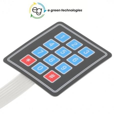 TASTIERA MATRICE A MEMBRANA 16 tasti - Arduino compatibile