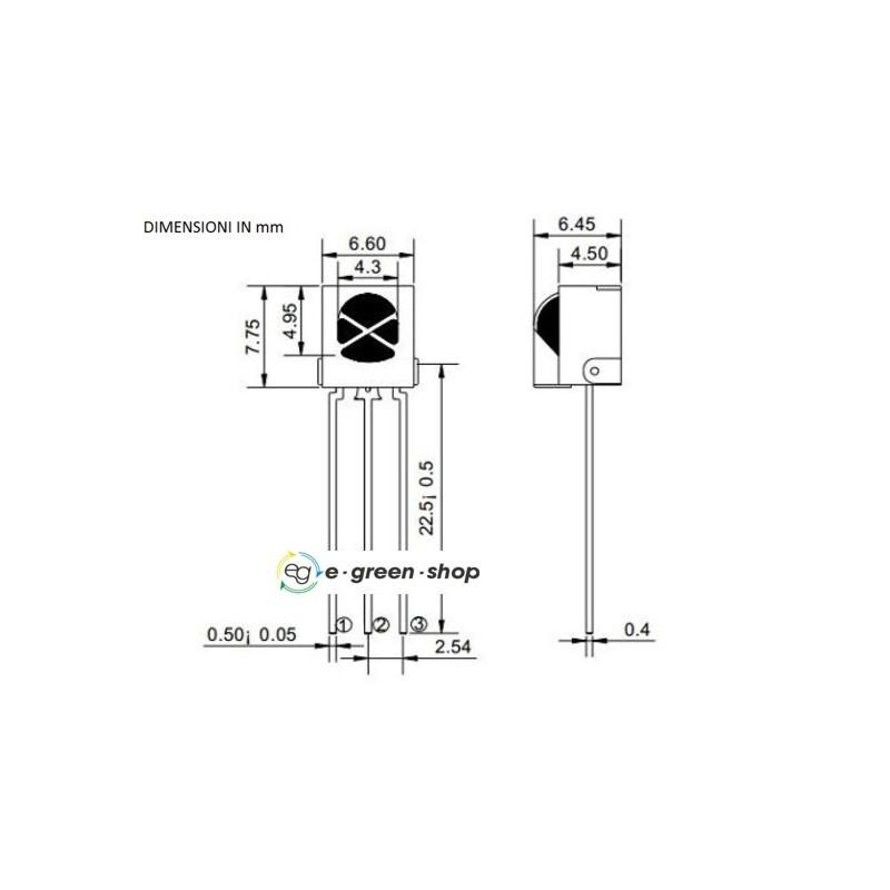 2 LED RICEVITORE INFRAROSSO UNIVERSALE TL1838 VS1838B Universal Infrared arduino