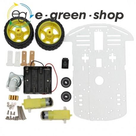 KIT ROBOT CAR 2 WD CHASSIS E MOTORI - ARDUINO