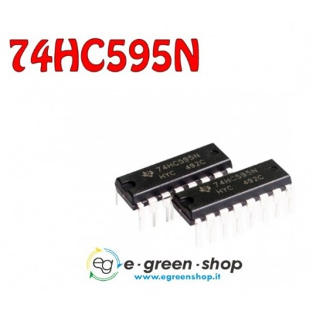 INTEGRATO 74HC595 SHIFT REGISTER - 8 BIT - DIP 16