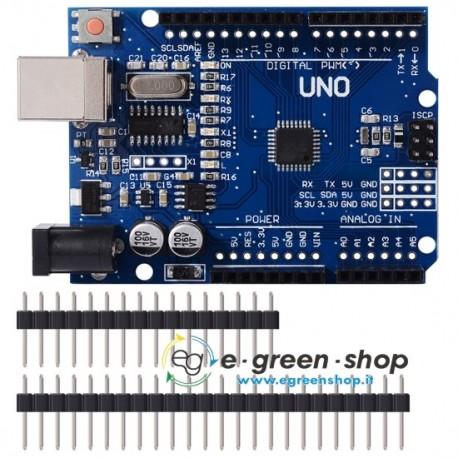 SCHEDA ARDUINO R3 UNO COMPATIBILE - ATMEGA328P + CAVO USB