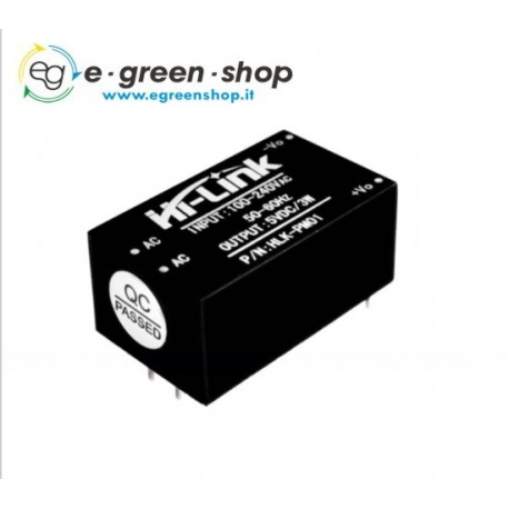 MODULO ALIMENTAZIONE HLK-PM01 - Power Supply AC-DC 100-220V output 5V 3W 10A