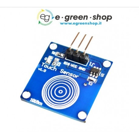 SENSORE TOUCH CAPACITIVO DIGITALE TTP223B - ARDUINO