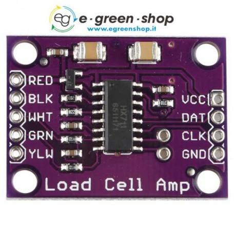 CONVERTITORE ADC HX711 PER CELLE DI CARICO SU MODULO - sensor module - ARDUINO
