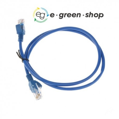 PATCH CORD RJ45 CAT 6E UTP - 1M - FAST ETHERNET