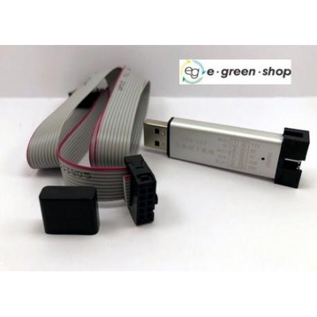 PROGRAMMATORE USBISP USBASP ATMEL AVR - ALLUMINIO