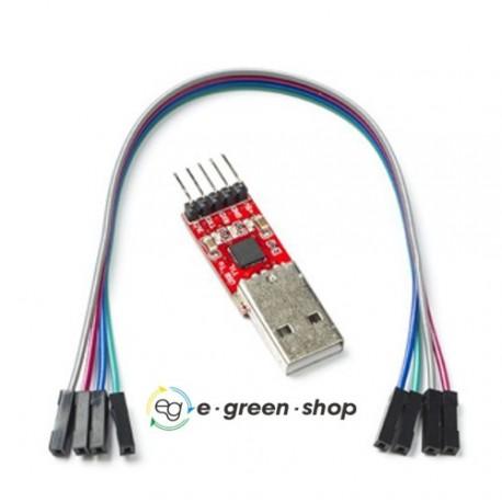 ADATTATORE SERIALE USB a TTL - CHIP CP2102